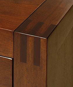 Creighton Walnut Cherry 2-drawer Nightstand