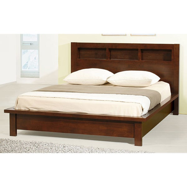 Creighton Walnut Cherry Queen-size Bed