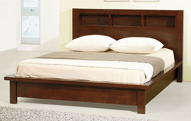 Creighton Walnut Cherry Queen Size Bed Overstock