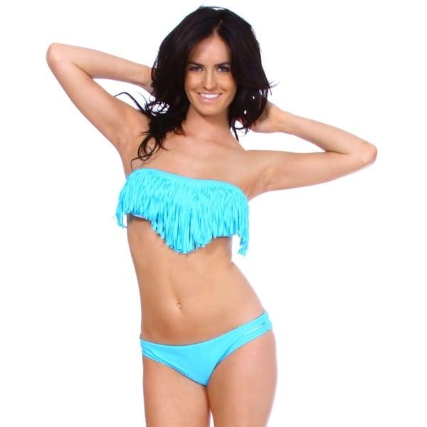 Simplicity Women's Tassel Padded Bikini Set Swimwear Swimsuit 34625899