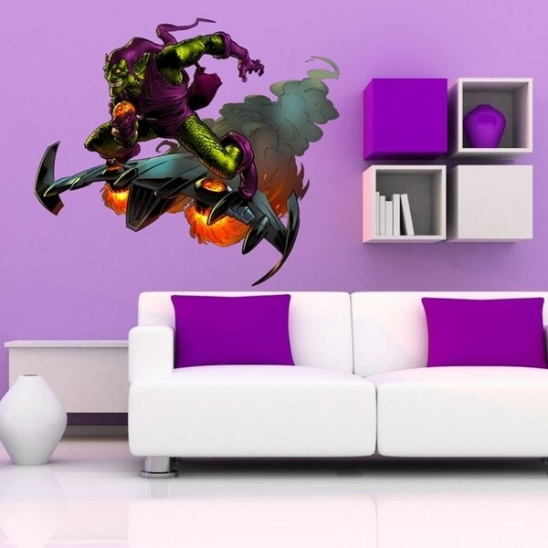 """Cartoon Hero Full Color Wall Decal Sticker K-219 FRST Size 52""""x65"""" 34627548"""