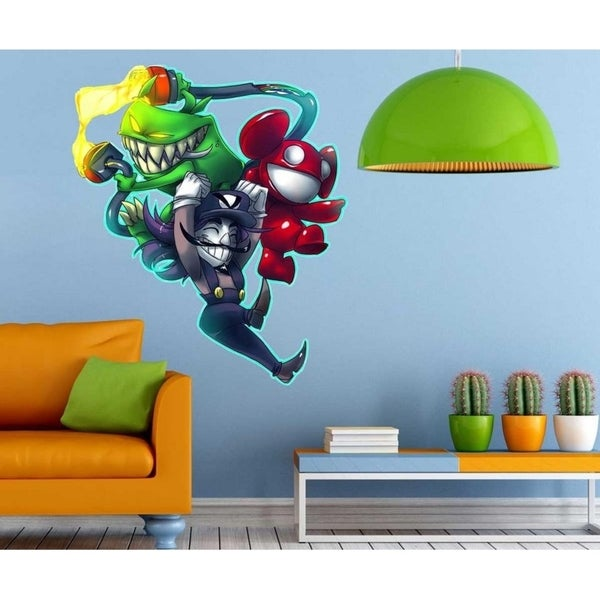 """Cartoon Heros Full Color Wall Decal Sticker K-242 FRST Size 40""""x40"""" 34627660"""