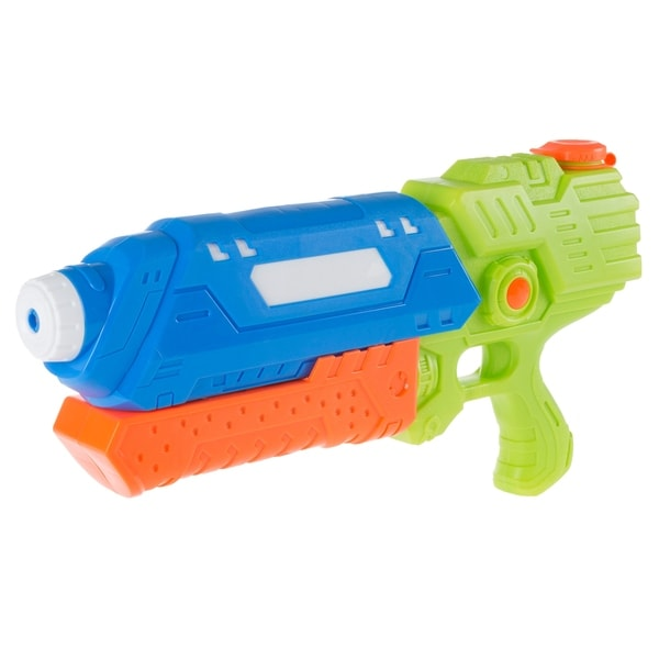 Water Gun Soaker with Air Pressure Pump- Lightweight Squirt Gun Toy for Beach, Pool and Outdoor Games for Kids by Hey! Play! 34628673