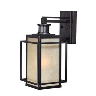 Hyde Bronze Motion Sensor Dusk to Dawn Mission Outdoor Wall Light - 7.25-in W x 15.5-in H x 10.25-in D