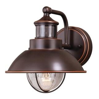 Harwich Bronze Motion Sensor Dusk to Dawn Coastal Outdoor Wall Light - 8.25-in W x 9-in H x 11-in D