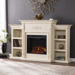 Gracewood Hollow Forbes 70-inch Ivory Electric Fireplace