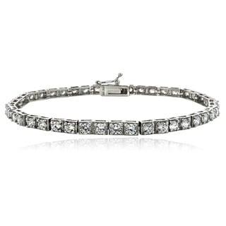 Icz Stonez Rhodium-plated Sterling Silver or 18k Goldplated Sterling Silver Cubic Zirconia Tennis Bracelet