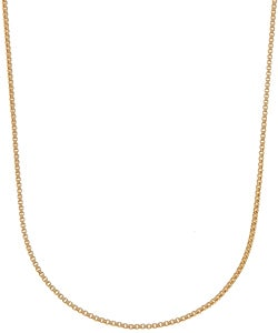 Sterling Silver with 18-karat Gold Overlay Box Chain Necklace