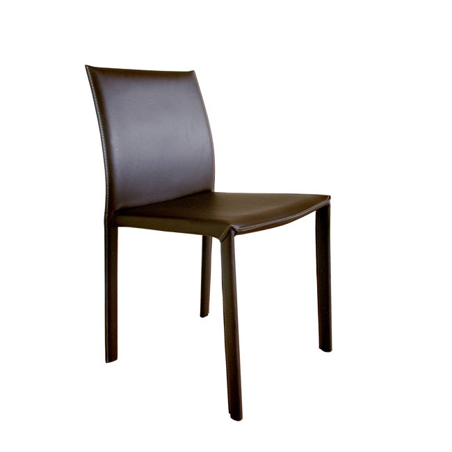 Kazan Brown Leather Dining Chairs (Set of 2)