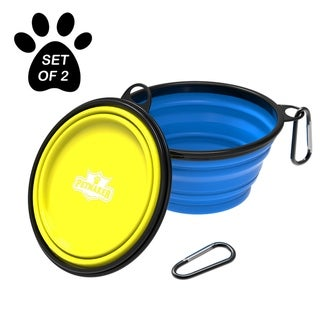 Collapsible Pet Bowls- Portable Silicone Food and Water Dog Bowl Set, BPA and Lead Free - 2 Pack, 12oz/32oz by PETMAKER