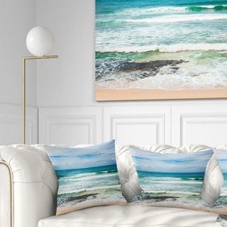 Designart 'Indian Ocean' Seascape Photography Throw Pillow