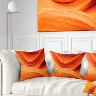 Designart 'Antelope Canyon Orange Wall' Landscape Photography Throw Pillow