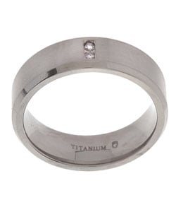 Titanium 7 mm 1/10ct TDW Round Diamond Band (I/ I2)