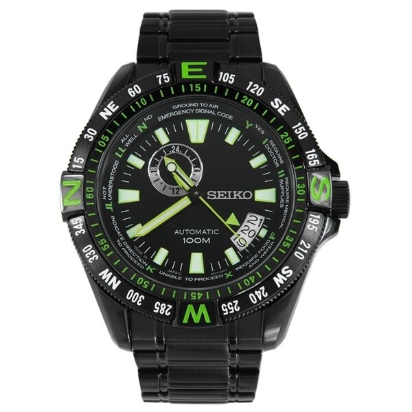 Seiko Men's SSA097 Automatic Black Stainless Steel Watch 34690562