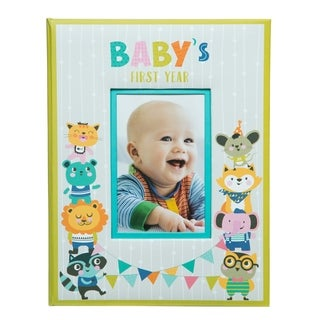 Baby's First Year Hardcover Milestone Memory Book Journal and Photo Album