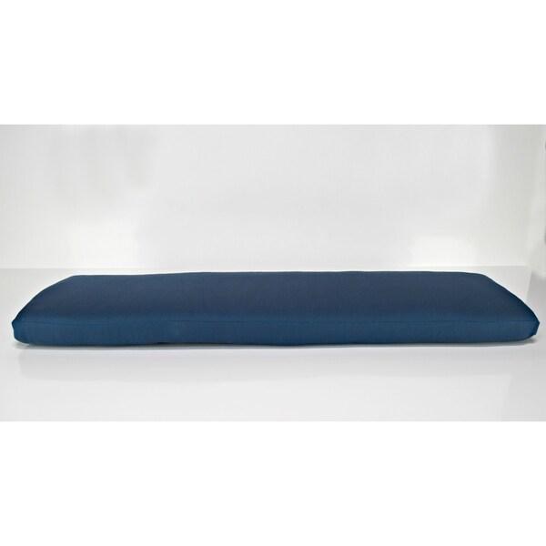 Pew Bench Cushion in Sunbrella Alyssa Luvs Blue Jasmine 34699412