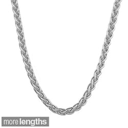 14k White Gold 0.8 mm Wheat Chain (16-20 inch)