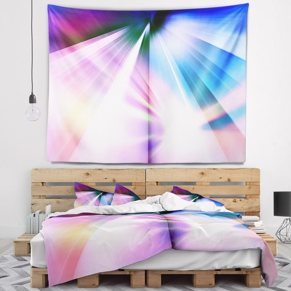 Designart 'Rays of Speed Blue' Abstract Wall Tapestry 34727624