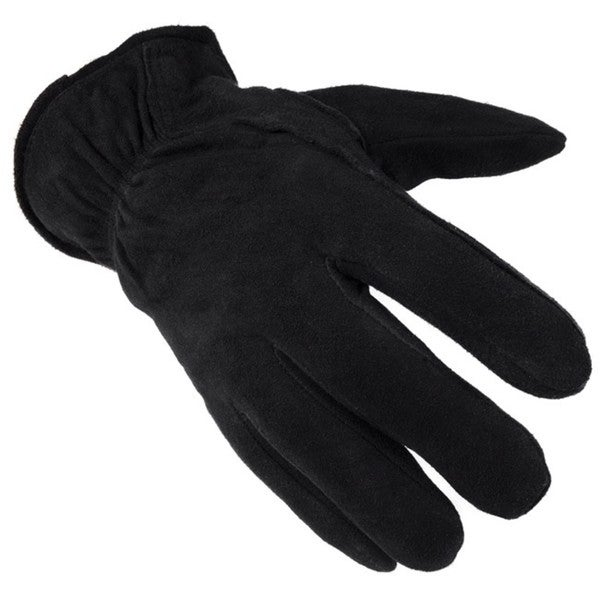 Daxx Men's Black Buttersoft Deerskin Gloves with Thinsulate Lining