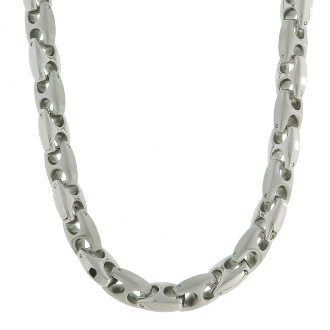 Stainless Steel 9mm Mariner Link Necklace (24-inch)