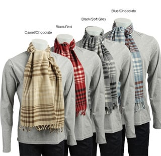 Men's Cashmere Plaid Scarf