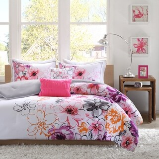 Taylor & Olive Harriman Floral Microfiber 5-piece Comforter Set