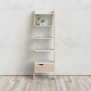 Carson Carrington Kristiansund White Oak Stair Bookcase