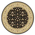 Safavieh Lyndhurst Collection Traditional Black/ Ivory Floral Rug (8' Round)
