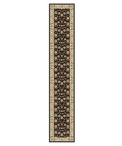 "Safavieh Lyndhurst Collection Traditional Black/Ivory Polypropylene Runner (2'3"" x 12')"