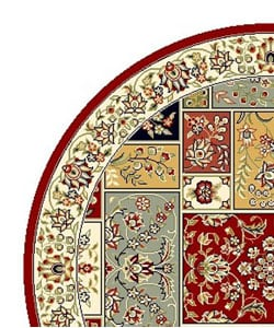 Safavieh Lyndhurst Traditional Multicolor/ Ivory Rug (5' 3 Round)