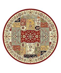 Safavieh Lyndhurst Traditional Multicolor/ Ivory Rug (5' 3 Round)