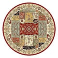 Lyndhurst Traditional Multicolor/ Ivory Rug (5' 3 Round)