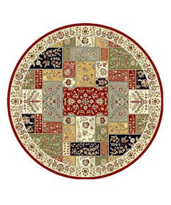 Safavieh Lyndhurst Collection Traditional Multicolor/ Ivory Rug (8' Round)