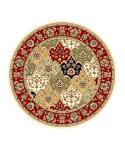 Safavieh Lyndhurst Collection Multicolor/ Red Rug (5' 3 Round)