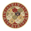 Lyndhurst Collection Multicolor/ Red Rug (5' 3 Round)