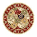 Lyndhurst Collection Multicolor/Red Area Rug (8' Round)
