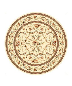 Safavieh Lyndhurst Collection Traditional Ivory/ Ivory Rug (5' 3 Round)