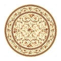 Lyndhurst Collection Traditional Ivory/ Ivory Rug (5' 3 Round)