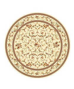 Safavieh Lyndhurst Collection Traditional Ivory/ Ivory Rug (8' Round)