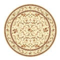 Lyndhurst Collection Traditional Ivory/ Ivory Rug (8' Round)
