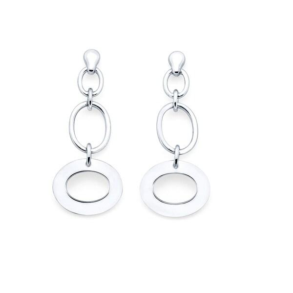 Sterling Silver Open Ovals Post Earrings 34772934