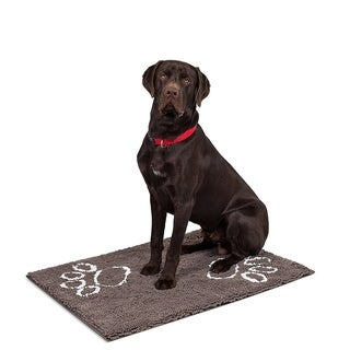 "Internet's Best Chenille Dog Doormat - 60 x 30"" - Absorbent Surface - Non-Skid Bottom - Protects Floors - Grey"