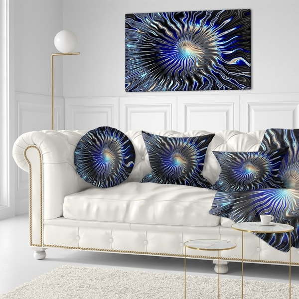 Designart 'Blue Rays from the Circle' Contemporary Throw Pillow 34799928