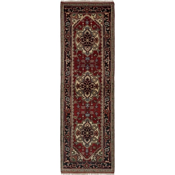 eCarpetGallery Hand-knotted Serapi Heritage Red Wool Rug - 2'7 x 8'5 34838541