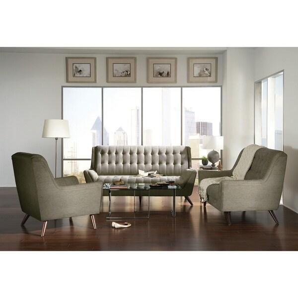 Retro Contemporary Sofa, Gray.