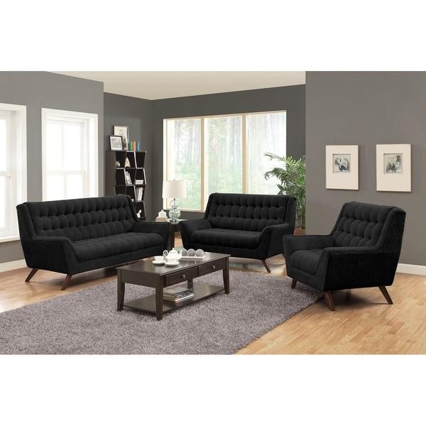 Retro Contemporary Sofa, Black.