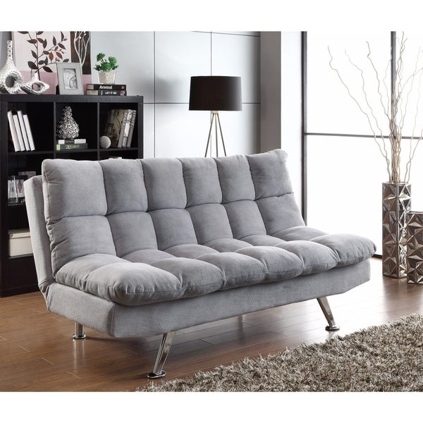 Fine furniture tufted sofa bed, Light Gray