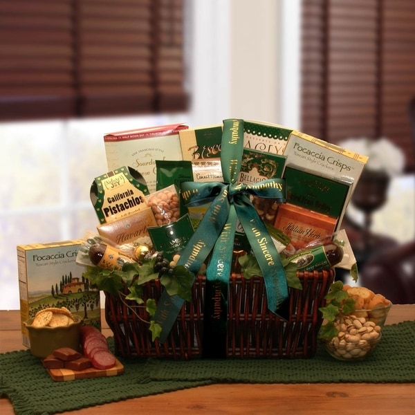 With Our Sincerest Sympathy Gift Basket 34884066
