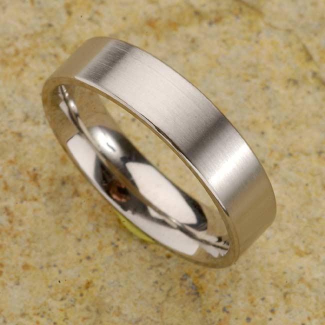 Men's Titanium Brushed Finish Band (7 mm)