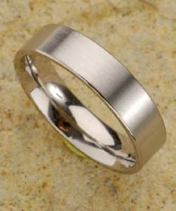 Men's Titanium Brushed Finish Band (7 mm)